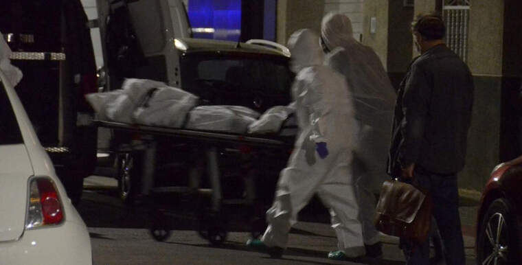 Aixecament del cadàver a l'Eixample de Sabadell
