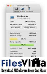 coconutBattery 3 for Mac Free Download