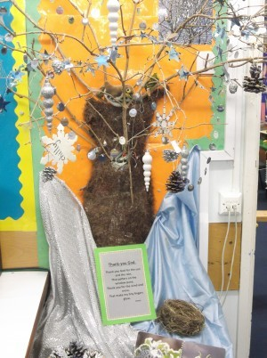 Nursery - We reflect upon The Seasons by observing our 'Seasons Tree'. This term we have been thinking about winter weather, particularly the cold wind and the frost. We have learnt a prayer to develop our understanding.