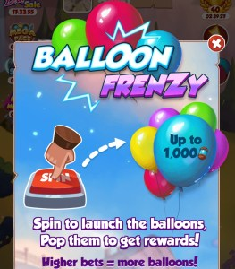 Balloon Frenzy Mini event in Coin Master Game