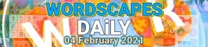 Wordscapes Daily 4 February 2021 Answers Puzzle Challenge