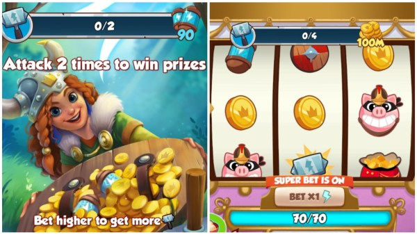 Attack Madness Wild Woman Event Requirements and spin board