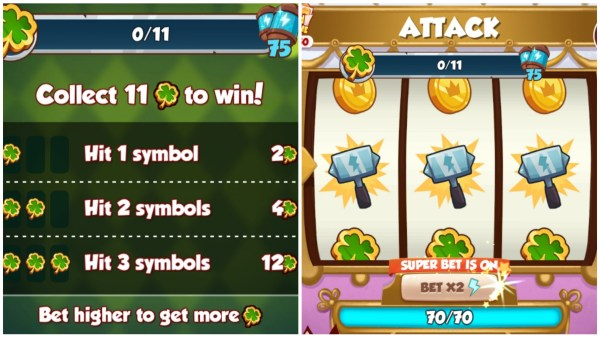 Pot Of GOld Requirements and spin board