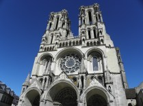 LAON: fasada zach. katedry Notre Dame / west facade of the Notre-Dame