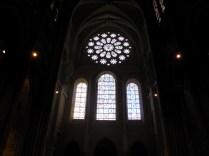 CHARTRES: witraże zachodniej fasady / stained glass of the west facade