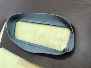 リアパネル ポケット部分 見返し処理完成 シングルステッチを入れるかもです