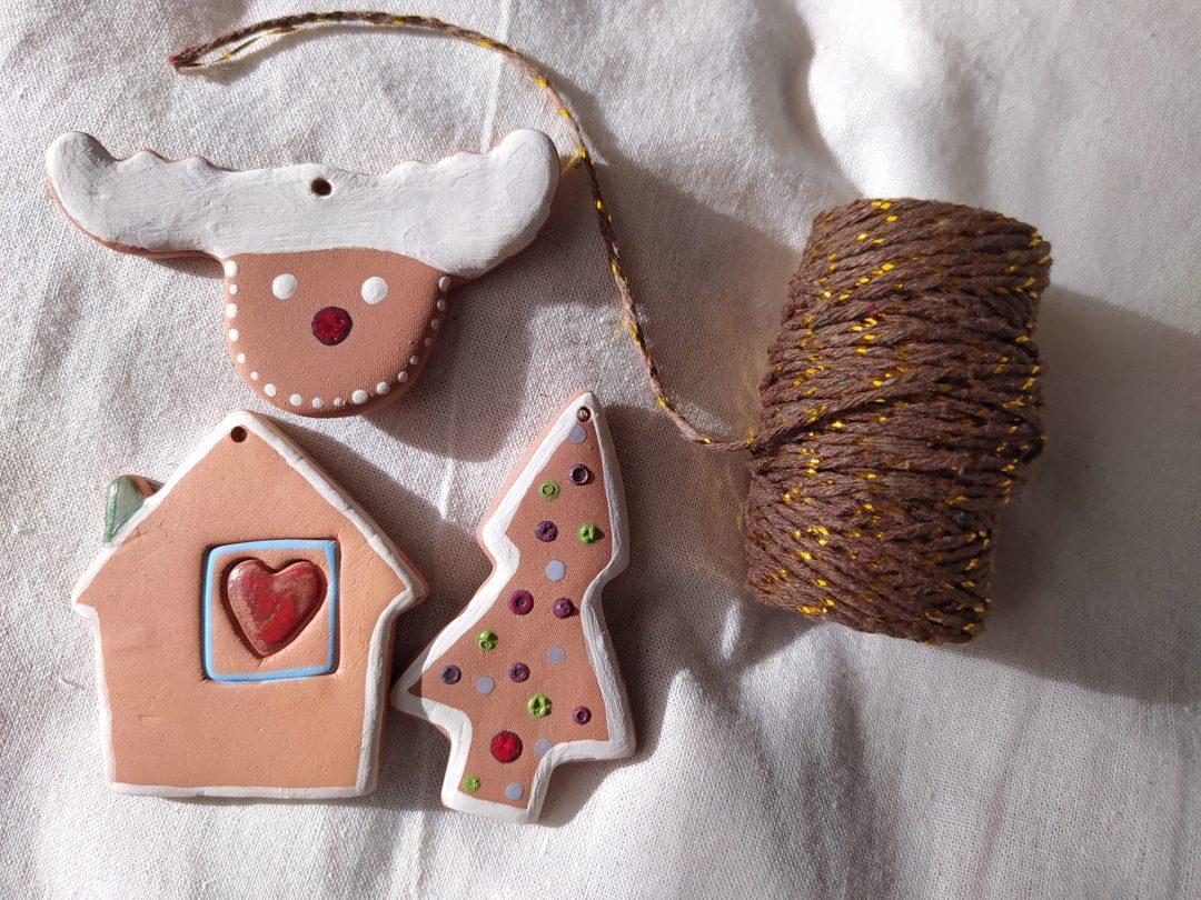 Adorno de Navidad de cerámica