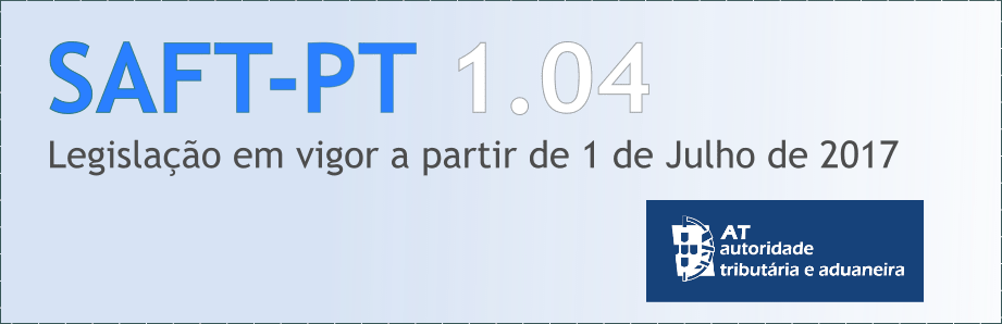 SAFT 1.04 em vigor a partir de 1 Julho 2017