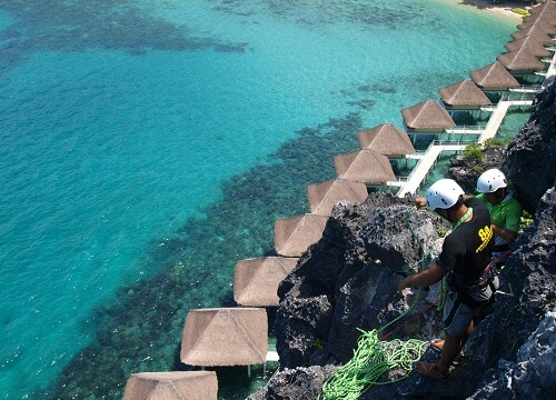 Abseilen Resort L11 - Taytay, Palawan, Filipijnen
