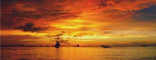 Zonsondergang Boracay - Western Visayas, Filipijnen