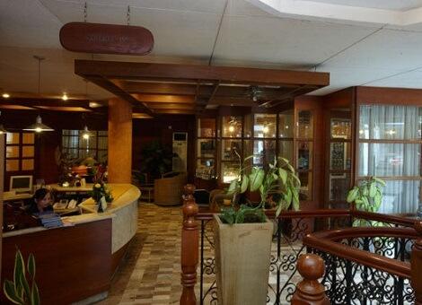 Receptie Hotel M01 - Dumaguete, Central Visayas, Filipijnen