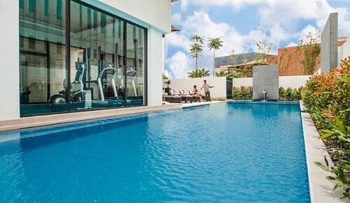 Zwembad Hotel L01 - Davao, Mindanao, Filipijnen