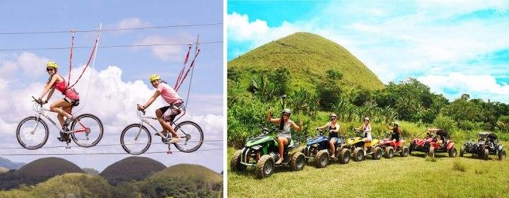 Zipline Fietsen en Quad Rijden bij de Chocolate Hills - Bohol, Filipijnen