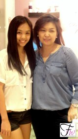 Ms Larcy and her gorgeous daughter