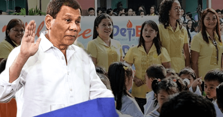 Pres Duterte 'working on' salary hike for teachers