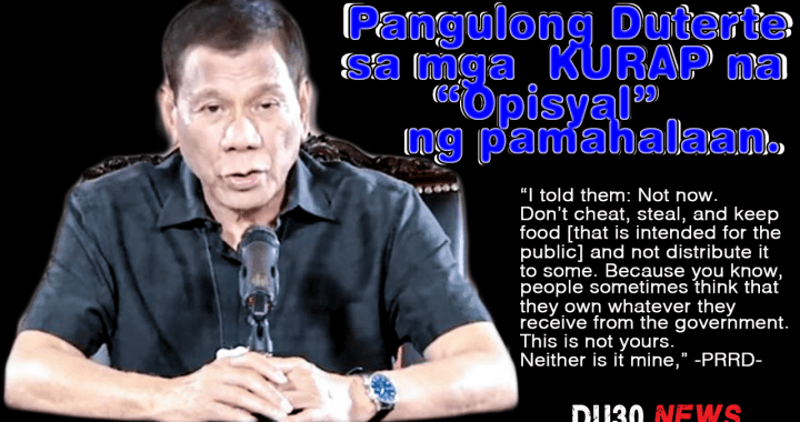WATCH: Pres Duterte to corrupt officials; don't cheat, and steal on COVID-19 aid or may face suspension and be arrested