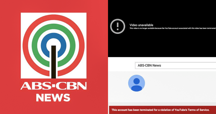 Youtube channel ng ABS-CBN News, sinuspinde ng Youtube