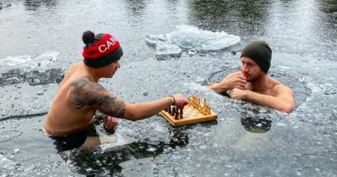 chess in a frozen lake