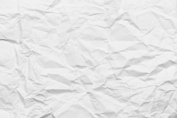 Wrinkled paper white background texture – Filipodia