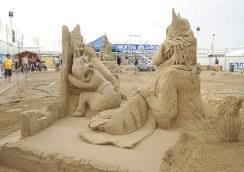 Campionato del mondo di sculture di sabbia Michela Ciappini Joris Kivits