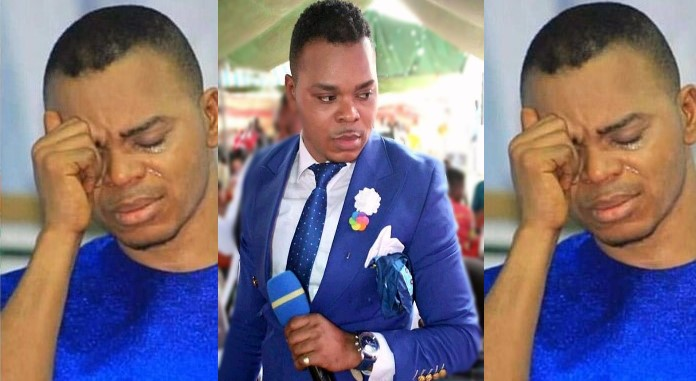 Angel Obinim collapses infront of Ghana Police