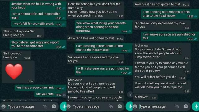 SHS Student Curses Teacher For Refusing To Accept Her Love Proposal
