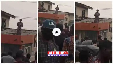 Woman Mysteriously Appears On Roof Top