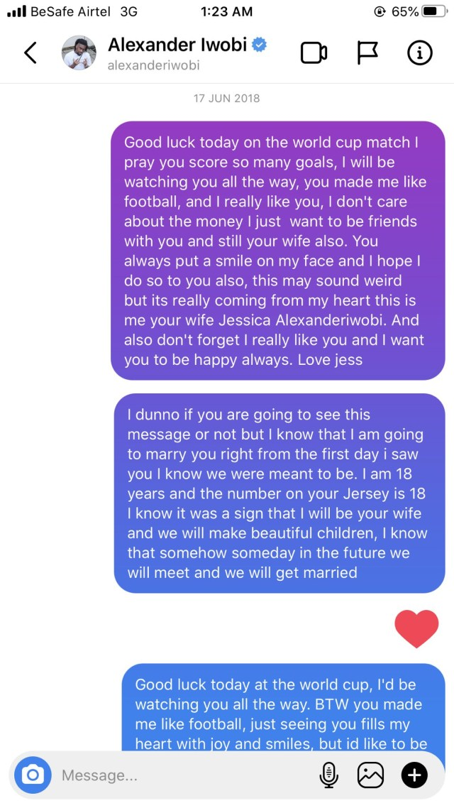 1612278366 689 Nigerian lady shares screenshots of love messages she sent to