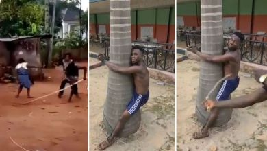 Man-gets-serious-beating-in-public-for-heartlessly-beating-his-mother