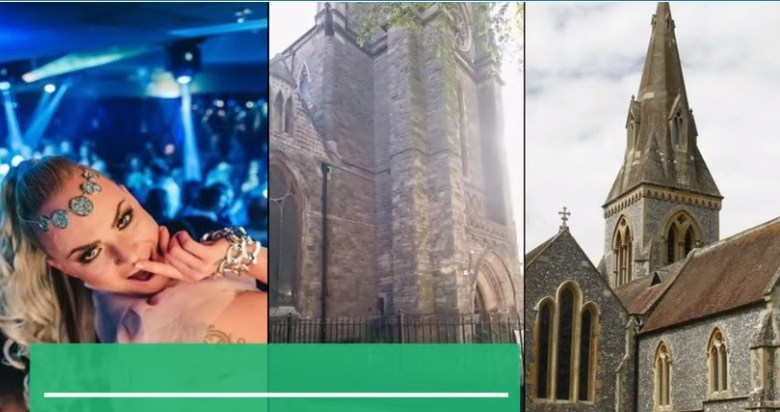 Church converted into nightclub in the UK