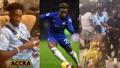 Chelsea winger Callum Hudson-Odoi visits Ghana; spotted chilling off with King Promise