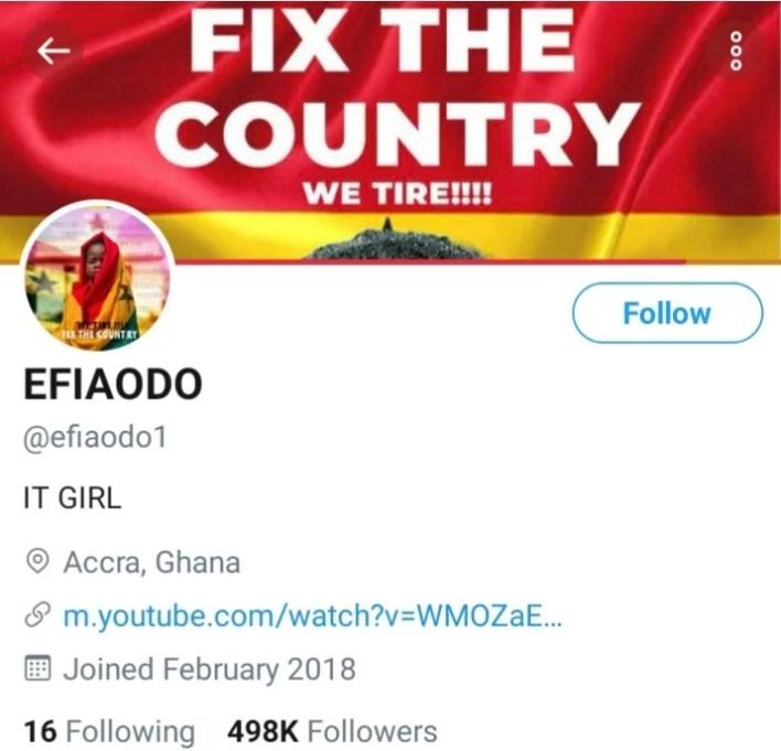 Efia Odo Twitter restored