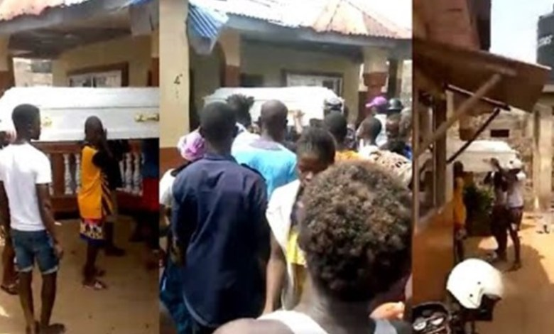 Corpse leads people to its killers house