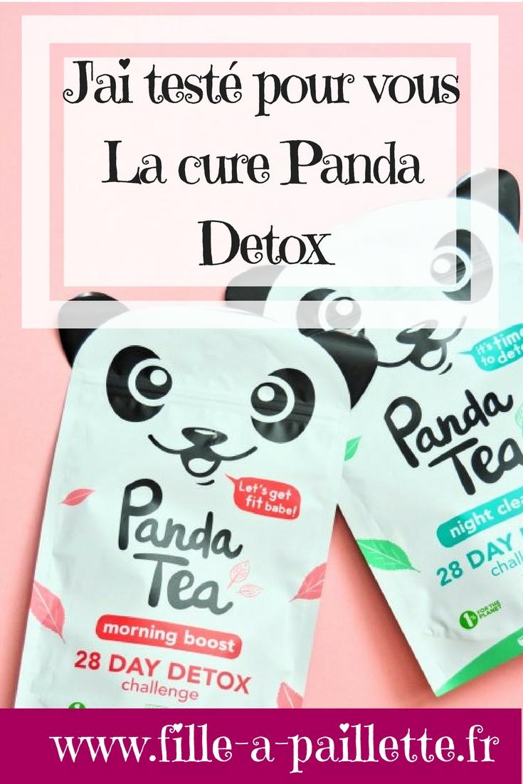 j'ai testé pour vous la cure Panda Tea detox