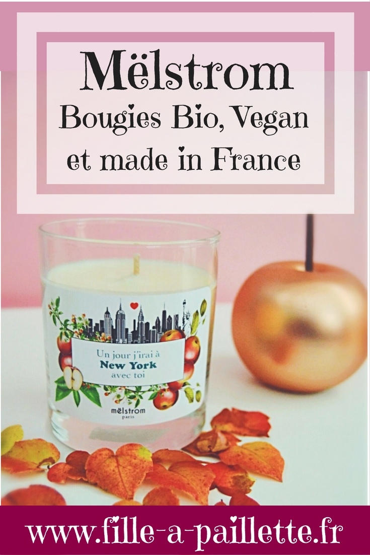Bougie Mëlstrom bio vegan et made in France