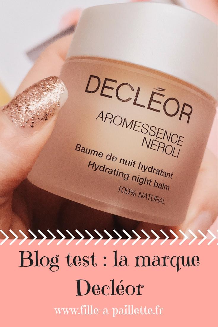 blog test : la marque Decléor