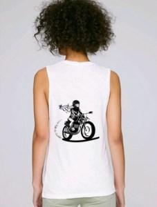 debardeur femme moto blanc bio fair trade 2