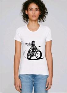 tee shirt femme moto blanc bio fair wear