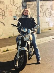 er 5 kawasaki première moto de fille au guidon