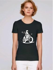 tee shirt motarde noir