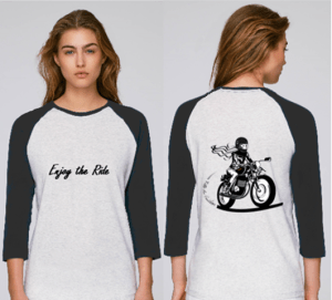 tee shirt femme motarde enjoy the ride