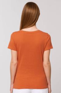 tee shirt motarde orange en coton bio fair trade
