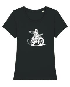 tshirt motarde FILLE AU GUIDON