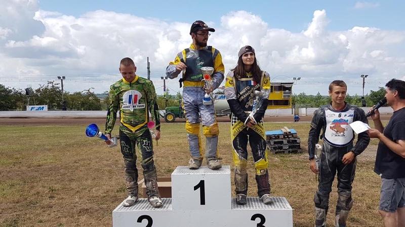 Audrey Dupuy vise de podium du championnat de Grass Track en 2020