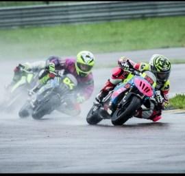 Justine Pedemonte course jeune pilote moto
