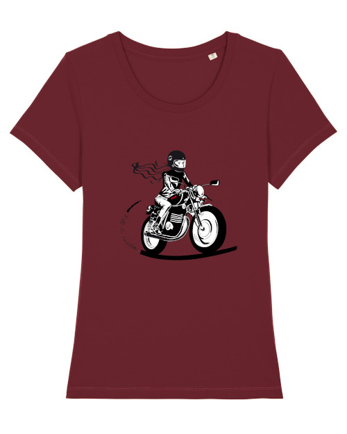 tee shirt motarde bordeaux