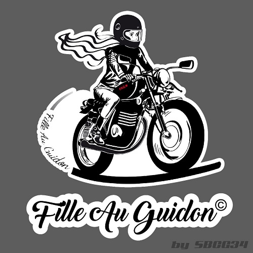 les stickers fille au guidon peuvent être posés sur les motos et les casques