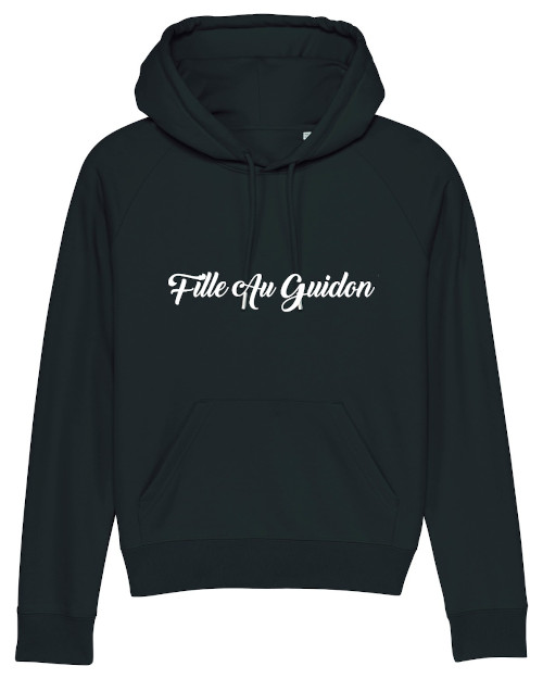 sweat noir fille au guidon