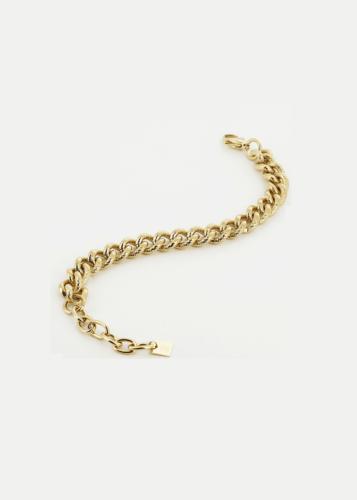 ZAG Bijoux Armband – Mat Geschakeld Goud