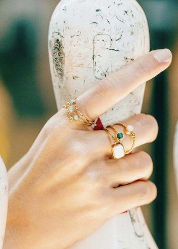 ZAG Bijoux Ring – Twisted Dots Blauw